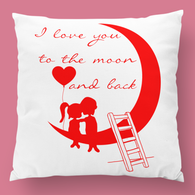 almofada personalizada i love you to the moon and back