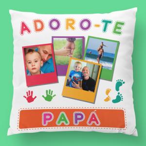 almofada personalizada adoro-te papá