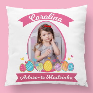 almofada personalizada adoro-te madrinha menina