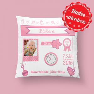 almofada personalizada rosa com foto