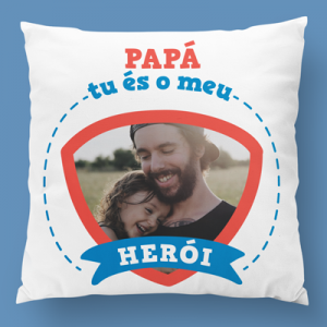 almofada personalizada papá es o meu heroi