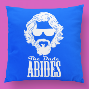 the dude abides almofada