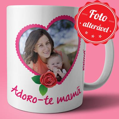 caneca adoro-te mama