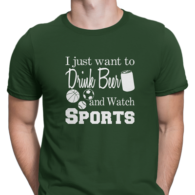 drink beer and watch sports