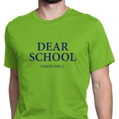 dear school i hate you