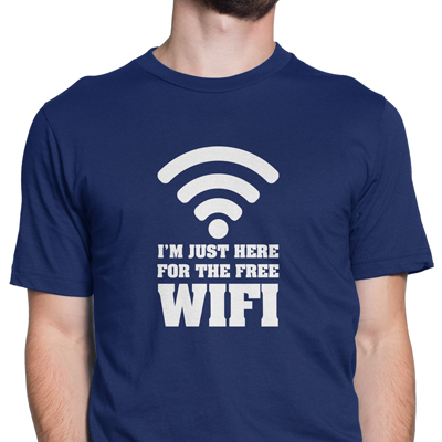 i'm just here for the free wi-fi