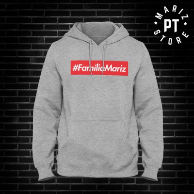 hoodie cinza familia Mariz