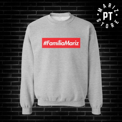 familia Mariz sweat cinza