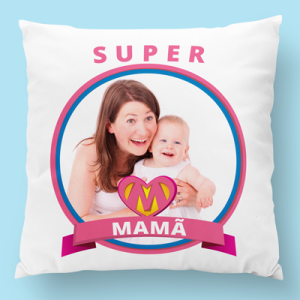 almofada personalizada super mama