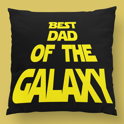 best dad of the galaxy almofada