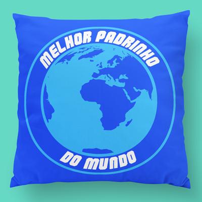 almofada personalizada o melhor padrinho do mundo