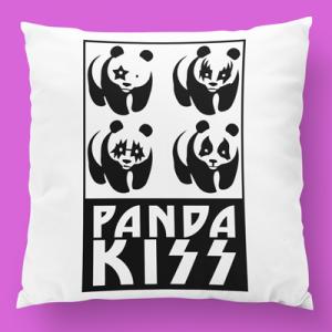 almofada personalizada panda kiss
