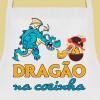 avental dragão na cozinha