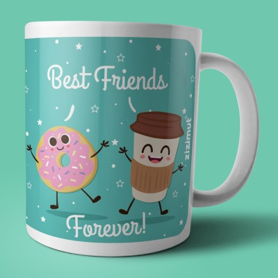 caneca best friends forever coffee donut