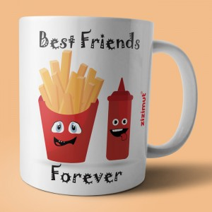 caneca best friends forever ketchup