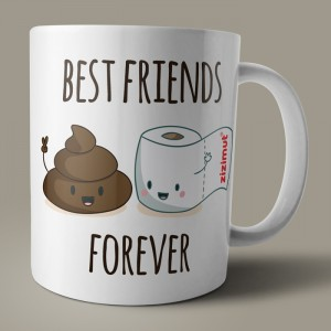caneca best friends forever papel higiénico