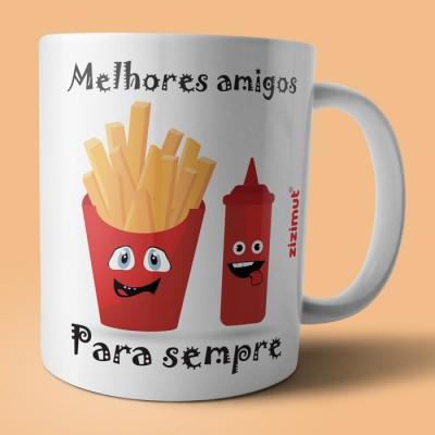 caneca melhores amigos para sempre ketchup