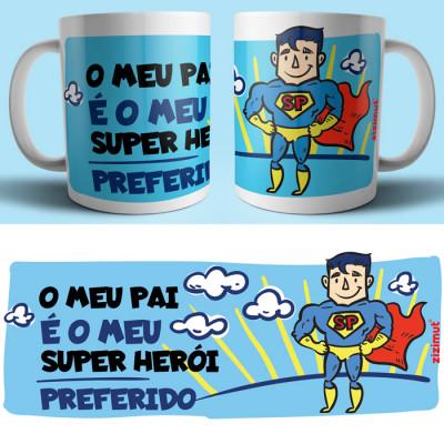 caneca pai super heroi