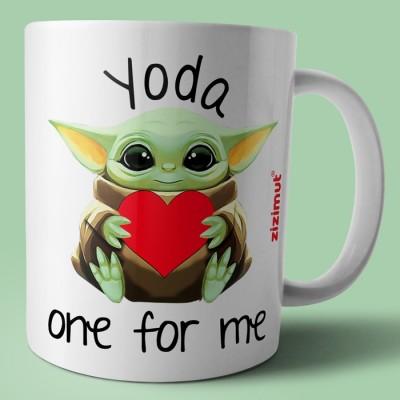 caneca yoda one for me