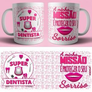 caneca dentista rosa