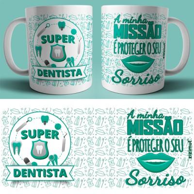 caneca dentista verde