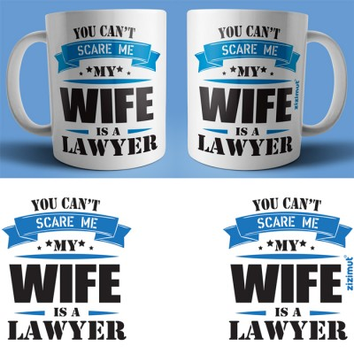 caneca my wife is a lawyer