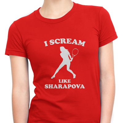 i scream like sharapova