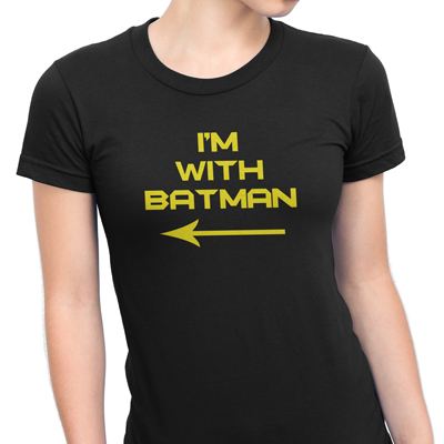i´m with batman mulher