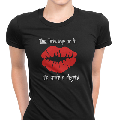 vários beijos por dia