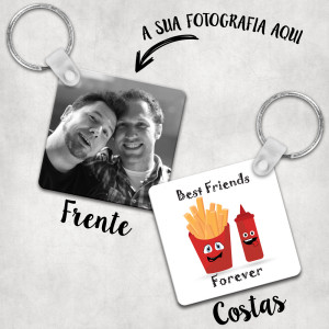 porta chaves best friends forever ketchup