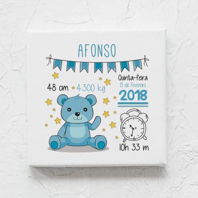 tela nascimento urso azul